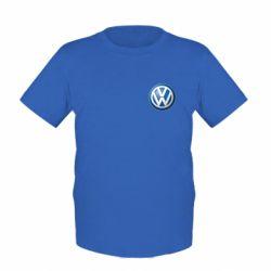 Детская футболка Volkswagen Small Logo - FatLine