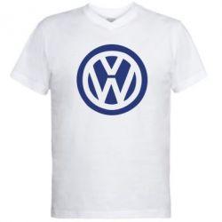 Мужская футболка  с V-образным вырезом Volkswagen - FatLine