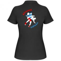 Женская футболка поло Вольная борьба - FatLine