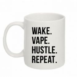 Кружка 320ml Wake.Vape.Hustle.Repeat.
