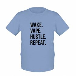Детская футболка Wake.Vape.Hustle.Repeat. - FatLine
