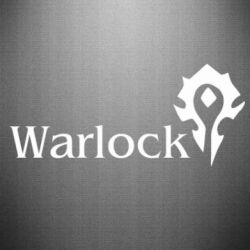 Наклейка Warlock - FatLine