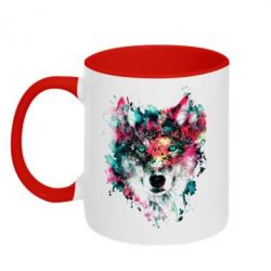 Кружка 320ml Watercolor Colorful Wolf