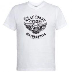 Мужская футболка  с V-образным вырезом West Coast Choppers - FatLine