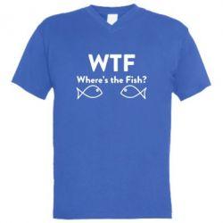 Чоловічі футболки з V-подібним вирізом Where is The Fish