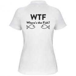 Женская футболка поло Where is The Fish