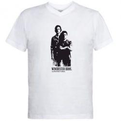 Мужская футболка  с V-образным вырезом Winchester Bros - FatLine