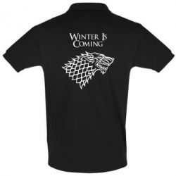Футболка Поло Winter is coming (Игра престолов)
