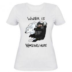 Женская футболка Winter is !@#%ing here