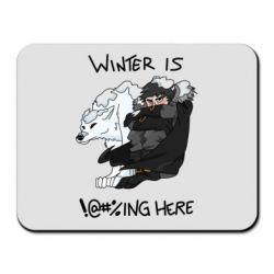 Коврик для мыши Winter is !@#%ing here