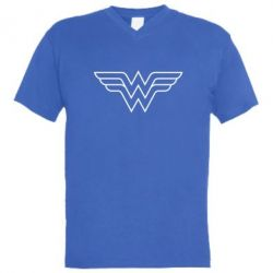 ������� ��������  � V-�������� ������� Wonder Woman Logo - FatLine
