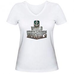 Женская футболка с V-образным вырезом World of Warships - FatLine