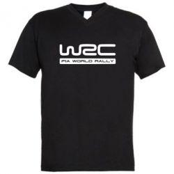 Мужская футболка  с V-образным вырезом WRC - FatLine
