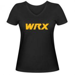 Женская футболка с V-образным вырезом WRX - FatLine