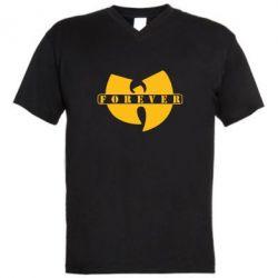Мужская футболка  с V-образным вырезом Wu-Tang forever - FatLine