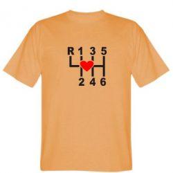 Мужская футболка Я люблю механическую коробку передач! - FatLine