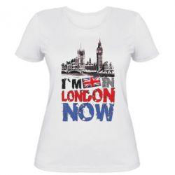 Женская футболка Я сейчас в Лондоне!