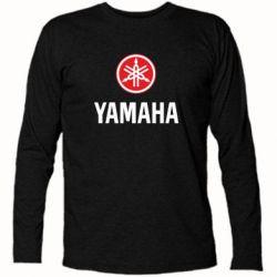 Футболка с длинным рукавом Yamaha Logo(R+W) - FatLine