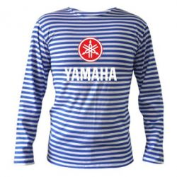 Тельняшка с длинным рукавом Yamaha Logo(R+W) - FatLine
