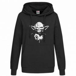 Женская толстовка Yoda в наушниках - FatLine