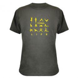 Камуфляжная футболка Йога life 2