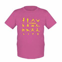 Детская футболка Йога life 2