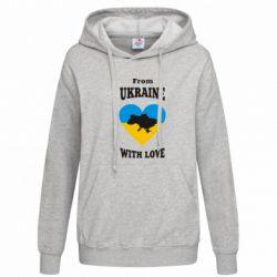 Женская толстовка З України з любовью