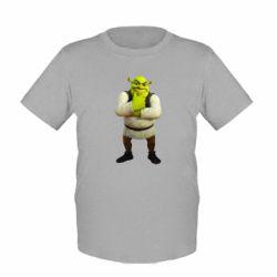 Детская футболка Задумчивый Шрек - FatLine