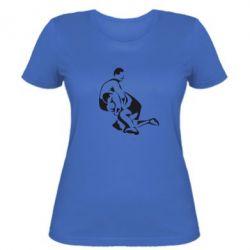 Женская футболка Захват в борьбе - FatLine