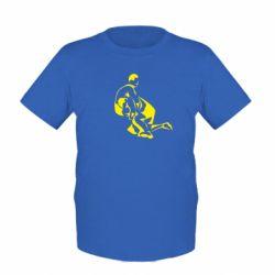 Детская футболка Захват в борьбе - FatLine