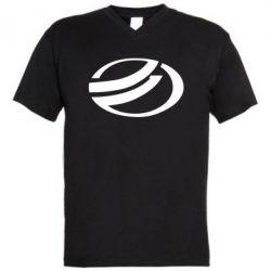 Мужская футболка  с V-образным вырезом ZAZ - FatLine