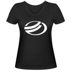Женская футболка с V-образным вырезом ZAZ - FatLine