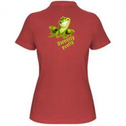 Женская футболка поло Жабка