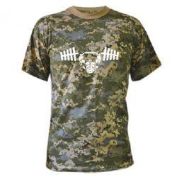 Камуфляжная футболка Жим штанги - FatLine