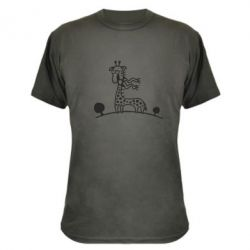 Камуфляжна футболка жираф - FatLine