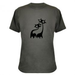 Камуфляжная футболка Жирафы - FatLine