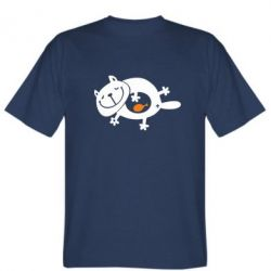 Мужская футболка Жирний кіт - FatLine