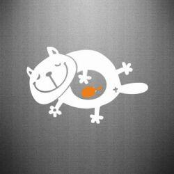 Наклейка Жирный кот - FatLine