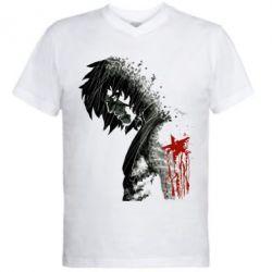 Мужская футболка  с V-образным вырезом Зимний солдат