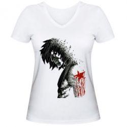 Женская футболка с V-образным вырезом Зимний солдат