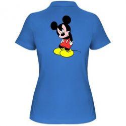 Женская футболка поло Злой Микки Маус - FatLine