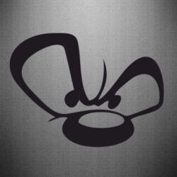 Наклейка Злой мишка - FatLine