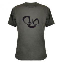Камуфляжная футболка Злой мишка - FatLine
