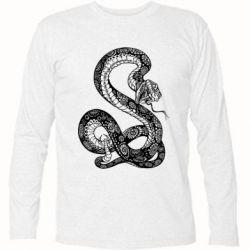 Футболка с длинным рукавом Змей
