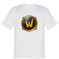 Мужская футболка Значок wow - FatLine