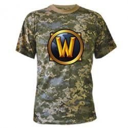 Камуфляжная футболка Значок wow - FatLine