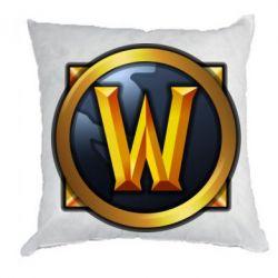 Подушка Значок wow - FatLine