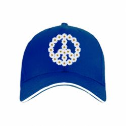 Кепка Знак мира из ромашек