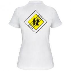 Женская футболка поло знак свадьбы - FatLine