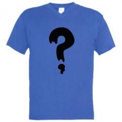 Мужская футболка  с V-образным вырезом Знак Вопроса - FatLine